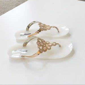 Forever Fairy-23 White Jelly Sandal